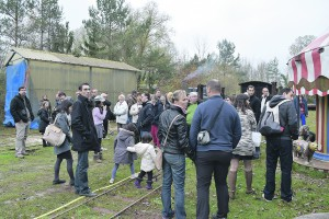 Le public est venu découvrir les 4 petits trains de la Grande Guerre.