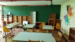 La bibliothèque de l'école avant les travaux.