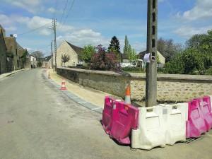 Les travaux rue du Château.