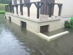 Dans certaines maisons de Dannemois, il y a eu jusqu'à 3 m d'eau.