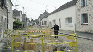 La première tranche de travaux de la rue du Faubourg de Melun est presque terminée.