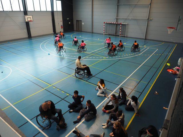 sensibilisation handisport égalité discrimination stéréotype collège Etampes