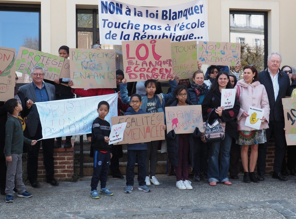 manifestation contre loi blanquer etampes