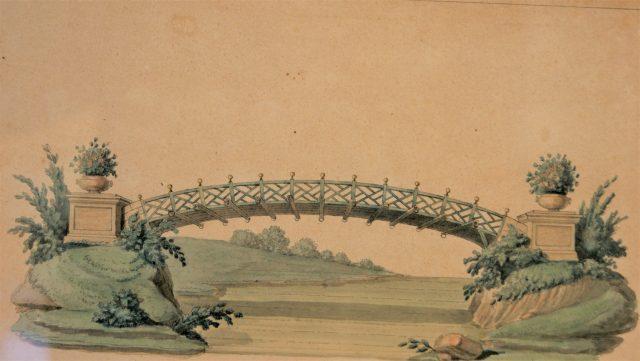 gravure chereau pont boules d'or méréville