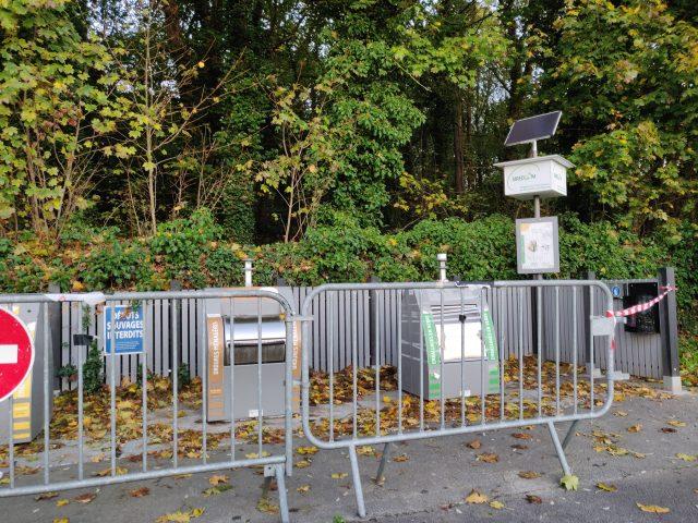 borne apport volontaire rue Cocatrix Etréchy Essonne fermeture
