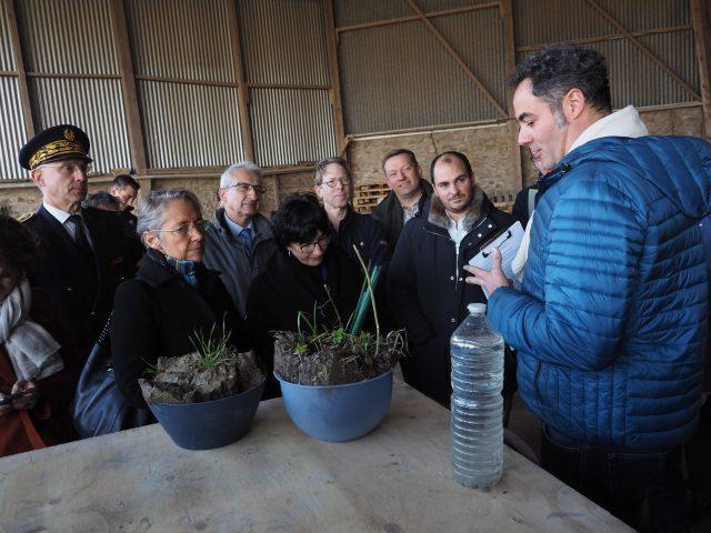 Nicolas Galpin agriculture conservation des sols visite Elisabeth Borne ministre transition écologiqueAuvernaux