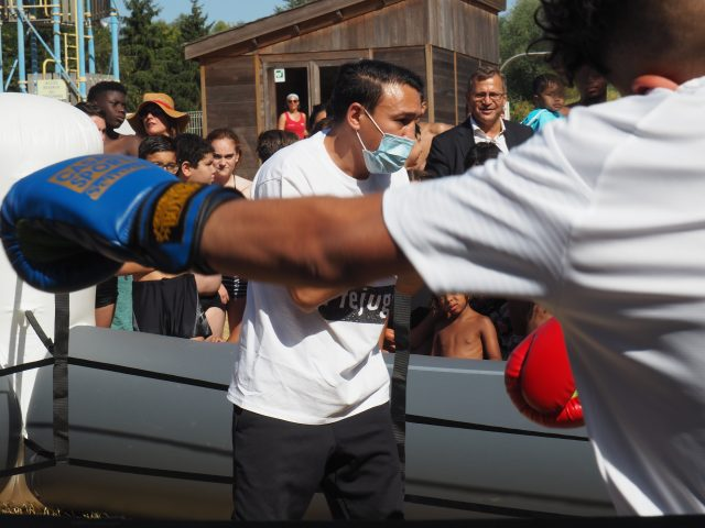 initiation boxe base de loisirs Etampes août 2020
