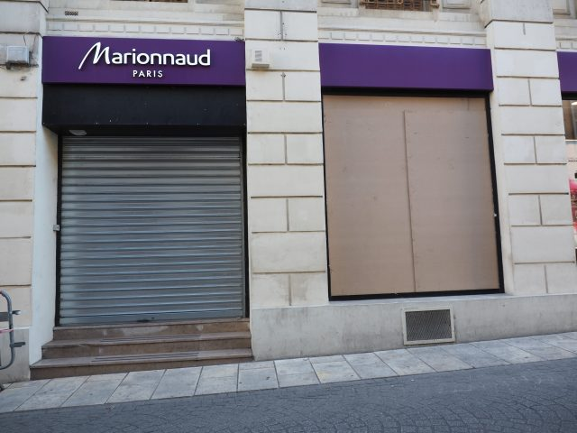 magasin marionnaud fermeture vol