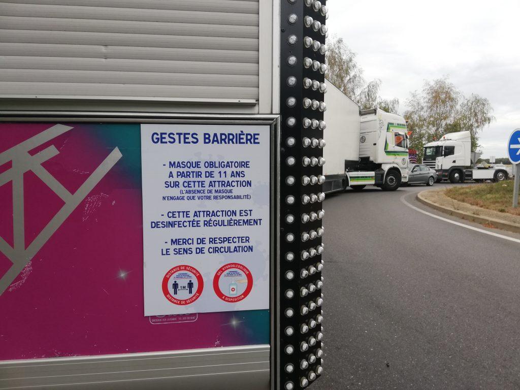 manifestation blocage forains fête du village Vert-le-Grand
