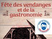 affiche fête des vendanges et de la gastronomie Milly-la-Forêt