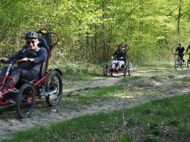 fauteuil tout terrain ma roue libre association auvernaux foret de senart départ étiolles