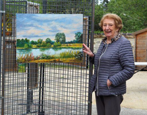 exposition Oncy-sur-Ecole peinture Jacqueline Olivier