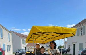 rosalie vélo collectif bus Cheptainville enfants soleil