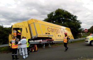 camion accident Lardy