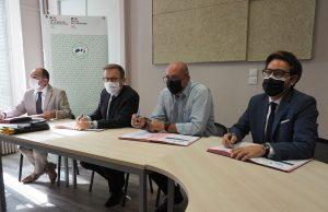 signature contrat préfecture Essonne CAESE CCEJR CCDH