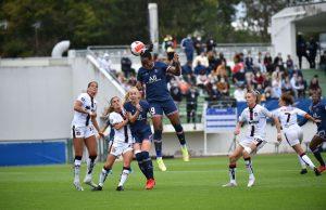 A l'image de Marie-Antoinette Katoto, le PSG a dominé de la tête et de épaules le FC Fleury 91. ©PSG