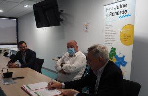signature convention espace faire rénovation énergie Entre Juine et Renarde Etréchy CCEJR Garcia Boussaingault Foucher